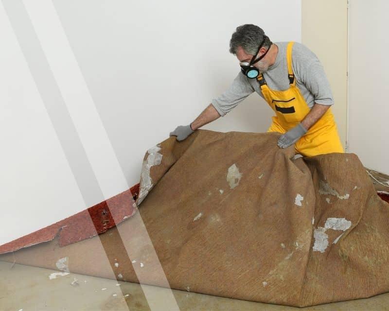 Auslegeware Teppich entfernen
